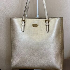 MICHAEL KORS GOLD LEATHER TOTE 💫NWOT💫
